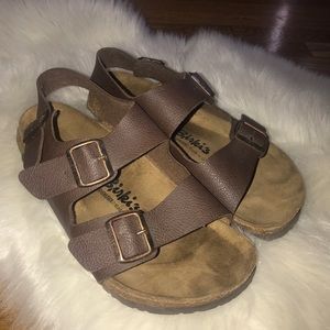 Birkenstock Birkis brown leather cork sandals 11